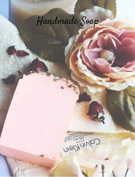 Rose and a pink handmade beauty soap