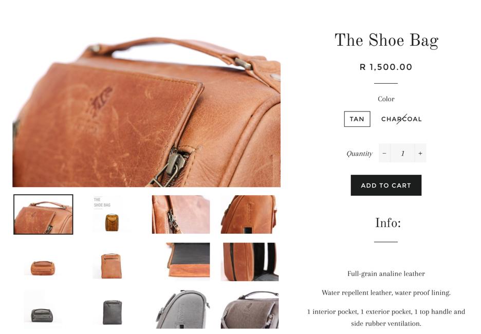 persona shoe bag