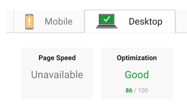 pagespeed desktop pingdom test