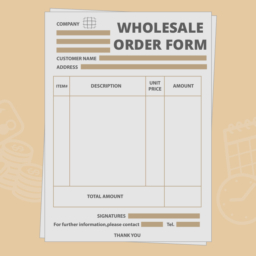 Now In Store  Product Order Form Template