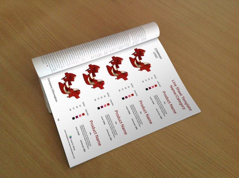 line sheet template